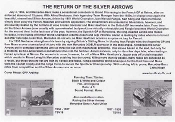 The Return of The Silver Arrows: Mercedes - Benz 1954 - 1955 DVD