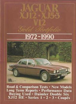 jaguar xj12, xj5 3 v12 gold portfolio 1972 - 1990
