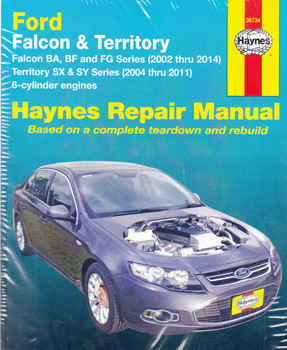 Ford Falcon BA , BF and FG Series, Territory SX and SY Series 2002 - 2014 Workshop Manual - front