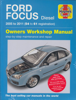 Ford Focus Diesel 1.6L, 1.8L, 2.0L 2005 - 2009 Workshop Manual (4807) (9780857339096)