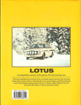 Lotus: A Competition Survey Of The Sports, GT and Touring Cars