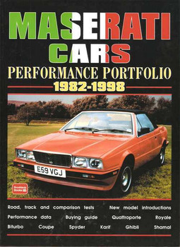 Maserati Cars Performance Portfolio 1982 - 1998