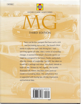 MG Britain's Favourite Sports Car (3rd Edition) Back Cover