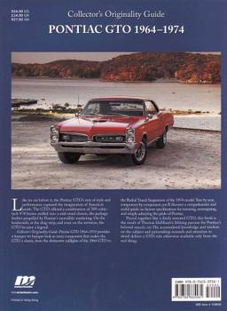 Original Pontiac GTO 1964 - 1974: Collector's originality Guide