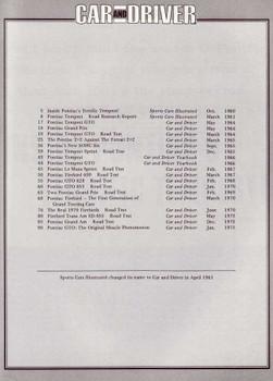 Car And Driver On Pontiac 1961 - 1975