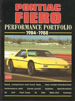 Pontiac Fiero Performance Portfolio 1984 - 1988