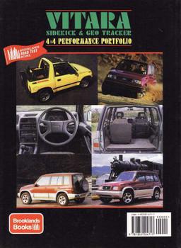Suzuki Vitara Sidekick & GEO Tracker 4x4 Performance Portfolio 1988 - 1997