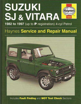 Suzuki SJ and Vitara 4-Cylinder Petrol 1982 - 1997 Workshop Manual