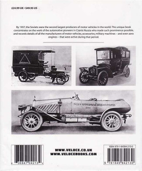 Russian Motor Vehicles: The Czarist Period 1784 - 1917