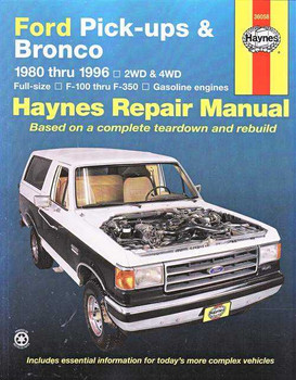 Ford Pick - ups F-100, F-150, F250, F-350 and Bronco 1980 - 1996 Workshop Manual