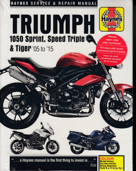 Triumph 1050 Sprint ST, Speed Triple & Tiger 2005 - 2015 Workshop Manual (9781785213564)
