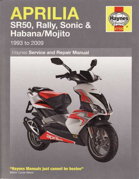 Aprilia SR50, Rally, Sonic, Habana, Mojito Scooters 1993 - 2009 Workshop Manual