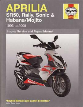 Aprilia SR50, Rally, Sonic, Habana, Mojito Scooters 1993 - 2009 Workshop Manual