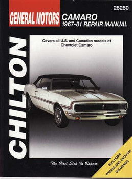 Chevrolet Camaro 1967 - 1981 Workshop Manual