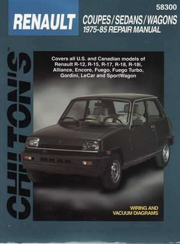 Renault Coupes, Sedans, Wagons 1975 - 1985 Workshop Manual