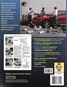 Ford Mustang 1994 - 2004 Workshop Manual