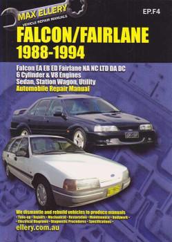 Ford Falcon EA, EB, ED Fairlane NA, NC, LTD DA, DC 1988 - 1994 Workshop Manual