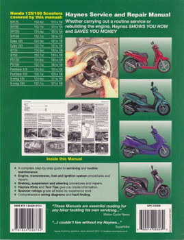 Honda 125/150 SH, Dylan, @, PS, Pantheon, S-wing 2000 - 2009 Workshop Manual