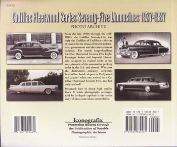 Cadillac Fleetwood Series 75 Limousines 1937 - 1987 Photo Archive