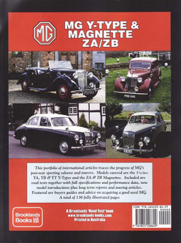 MG Y-Type, Magnette ZA / ZB: A Brooklands Books Road Test Portfolio
