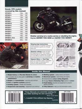 Honda VFR750, VFR700 V-Fours 1986 - 1997 Workshop Manual