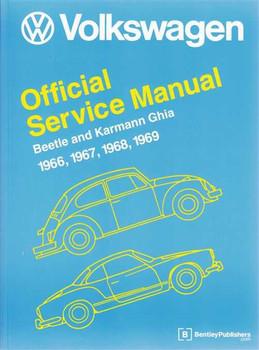 Volkswagen Beetle and Karmann Ghia 1966 - 1969 Type 1 Workshop Manual