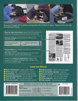 Peugeot 307 Petrol and Diesel 2001 - 2008 Workshop Manual
