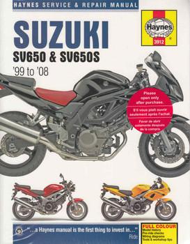 Suzuki SV650, SV650S 1999 - 2008 Workshop Manual ( 9781785210419)