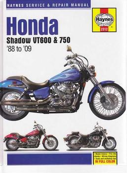 Honda Shadow VT600, VT750 1988 - 2009 Workshop Manual