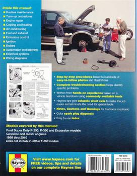Ford Super Duty F-250, F-350 Pick-ups 1999 - 2010 Workshop Manual