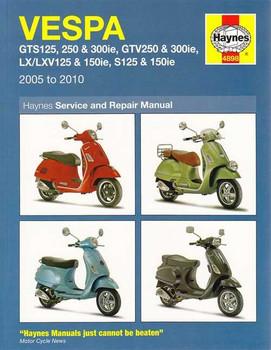 Vespa GTS125, 250, 300ie, GTV250, 300ie LX/LXV125, 150ie, S125, 150ie  Workshop