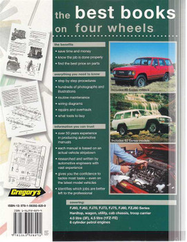 Land Cruiser 60, 70, 80 series 4.0, 4.5 Litre Petrol 1980 - 1998 Workshop Manual