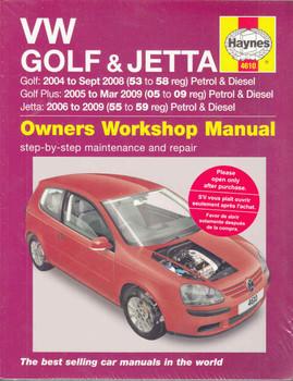 Volkswagen Golf, Golf Plus (MK V) and Jetta 2004 - 2009 Workshop Manual