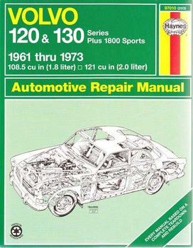 Volvo 120, 130 and 1800 Sports 1961 - 1973 Workshop Manual