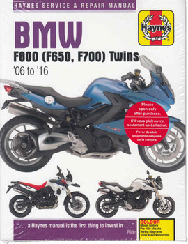 BMW F800, F650 Twins 2006 - 2016Workshop Manual (9780857339218)