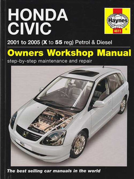 Honda Civic Petrol and Diesel 2001 - 2005 Workshop Manual