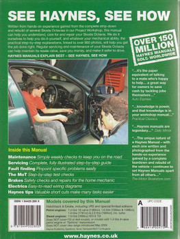 Skoda Octavia Petrol and Diesel 1998 - 2004 Workshop Manual