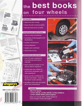 Mitsubishi Lancer CB, CC Petrol 1990 - 1996 Workshop Manual