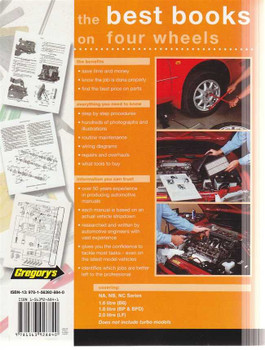 Mazda MX-5 NA, NB, NC Series 1.6, 1.8, 2.0 L 1989 - 2009 Workshop Manual