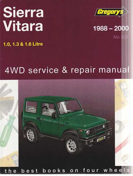 Suzuki Sierra, Vitara 4WD 1988 - 2000 Workshop Manual