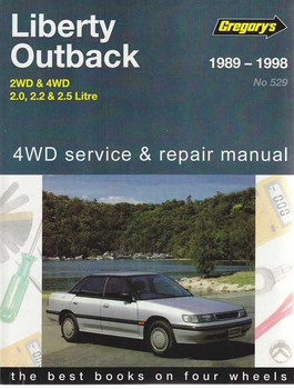 Subaru Liberty and Outback 2WD & 4WD 1989 - 1998 Workshop Manual