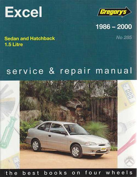 Hyundai Excel 1.5 Litre 1986 - 2000 Workshop Manual