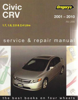 Honda Civic & CRV 1.7, 1.8, 2.0, 2.4 Litre 2001 - 2010 Workshop Manual