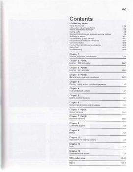 Toyota RAV4 2.0, 2.4, 3L V6 Litre 1994 - 2012 Workshop Manual
