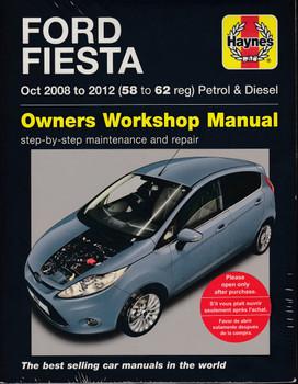 Ford Fiesta 1.25L, 1.4L, 1.6L Petrol & 1.4L, 1.6L Diesel 2008 - 2012 Workshop Manual