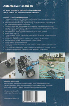 Bosch Automotive Handbook 9th Edition Back Cover