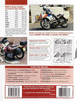 BMW K100 (2-valve), K75 1983 - 1996 Workshop Manual