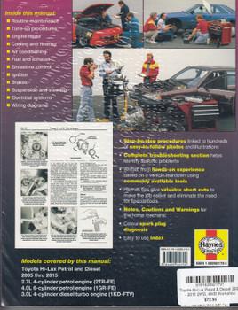 Toyota Hi-Lux Petrol & Diesel 2005 - 2015 2WD, 4WD Workshop Manual (9781620921791)