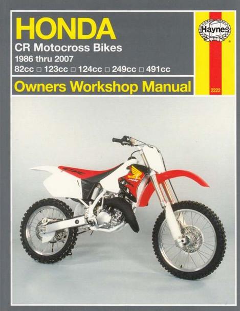 Honda CR Motocross Bikes 1986 - 2007 Workshop Manual