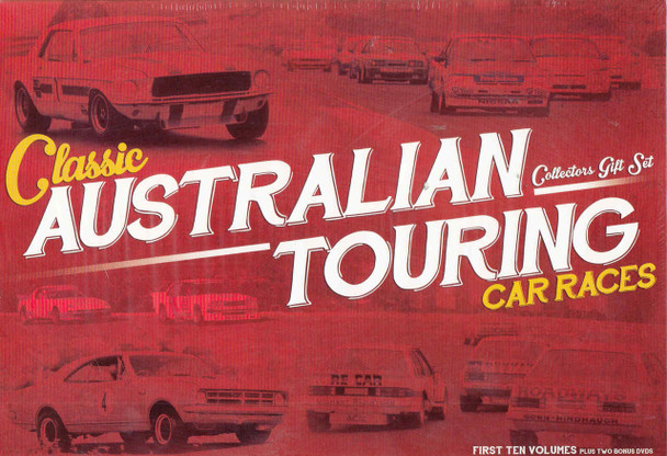 Classic Australian Touring Car Races Collectors 12 DVD Box Set - front